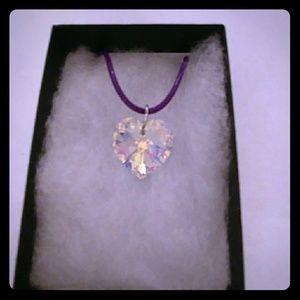 Jewelry - Winterberry Aurora Crystal Heart Necklace